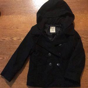 Old Navy girls Xs Black Coat